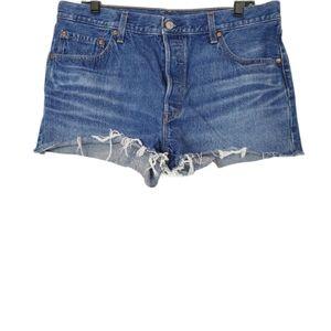 Levi's 501 Premium High Rise Jean Shorts 34